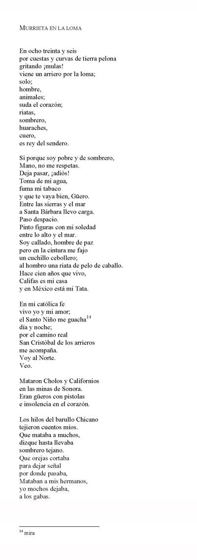 Poesía Chicana